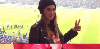 Melissa Satta infradito Valentino Rockstud Rouge