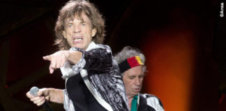 Concerto Rolling Stones Roma Mick Jagger Keith Richards giubbotto YSL 2