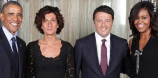 Barack Obama Agnese Renzi abito Ermanno Scervino Matteo Renzi Michelle Obama USA Waldorf Astoria Hotel 2