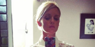 Justine Mattera total look Maison About