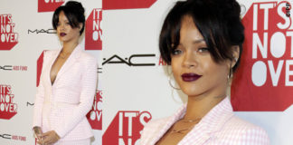Rihanna It's Not Over premiere tailleur scarpe Altuzarra