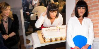 Ana Laura Ribas compleanno abito Mauro Grifoni borsa Mia Bag scarpe Giuseppe Zanotti Elenoire Casalegno Barbara D'Urso