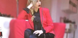 Maddalena Corvaglia MFW giacca Coveri borsa Mia Bag scarpe Le Silla