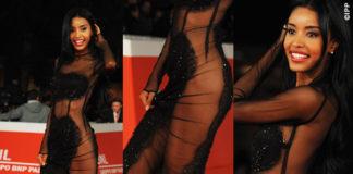Maylin Aguirre Roma Film Festival abito Gioffré scarpe Giuseppe Zanotti Design