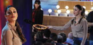 Belen Rodriguez camicia Alessandro Dell'Acqua Vean Fashion pantaloni Shirtaporter scarpe Cerasella