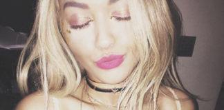 Rita Ora gioielli Jacquie Aiche S&H FRUIT OF LIFE CHOKER S&H DIAMOND HALTER BRA