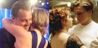Leonardo Dicaprio Kate Winslet Golden Globe 2016 Titanic