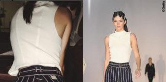 NYFW Kendall Jenner pantaloni Marc Jacobs