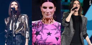 Laura Pausini World Wide Tour abiti Alberta Ferretti Fausto Puglisi YSL scarpe Loriblu