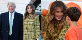 Melania Trump Halloween cappotto Bottega Veneta