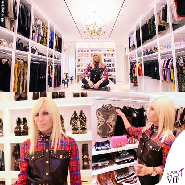 Donatella Versace guardaroba