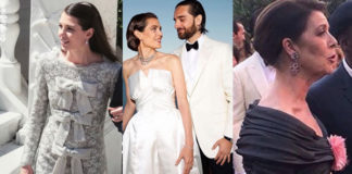 matrimonio Charlotte Casiraghi e Dimitri Rassam abito Saint Laurent e Chanel collana Cartier