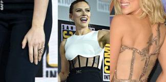 Scarlett Johansson tuta David Koma anello Taffin scarpe Gianvito Rossi 7