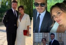 Victoria e David Beckham anniversario Versailles abito Victoria Beckham 6