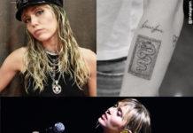 Miley Cyrus tatuaggio