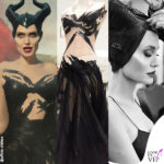 Angelina Jolie interpreta Malefica in Maleficient con un abito Ralph and Russo