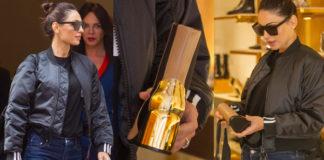 Anna Tatangelo fa shopping a Roma con bomber Adidas occhiali da sole Hugo Boss