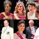 incoronazione di Naruhito: regina Letizia, regina Maxima, imperatrice Masako, principi Alberto Victoria e Carlo