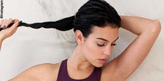 georgina rodriguez fa ginnastica con il look sexy
