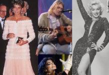 Lady Diana Spencer Kurt Cobain Marilyn Monroe Michael Jackson abiti all'asta