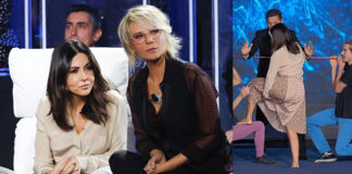 Tu si que vales 6 puntata Sabrina Ferilli ha indossato una gonna Burberry mentre Maria De Filippi era in total black