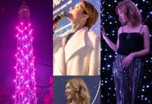 Cristiana Capotondi con gioielli Pandora all'evento Stargazing alla torre branca